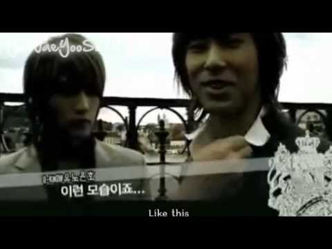 """YunJae moment #40 """"The Way I Stare At You"""", jae why are u just staring! he should have gotten affectionate too. yunnie was giving a hint ;p plus jealous boojae is the cutest thing."""