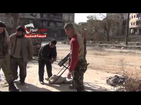 Aleppo - 19/02/2014 - Islamic Front targeted Assad troops at the city
