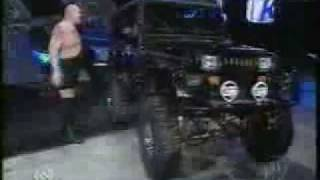 Big Show Tips Over A Jeep