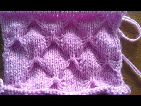 Ly handmade vn hướng dẫn đan hình cánh bướm. Butterfly stitch - knitting.