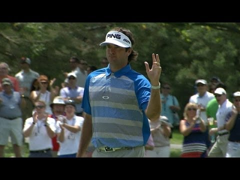 Bubba Watson opens with a 34-foot birdie on No. 1 at the Memorial