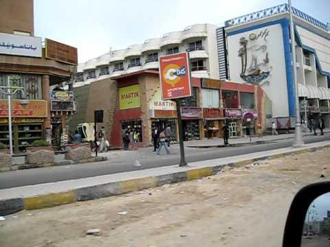 Хургада, ул. Шератон,AVI : обстановка в египте