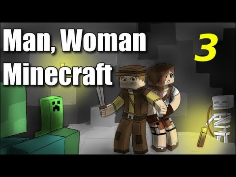 "Man Woman Minecraft S2E3 ""Waterfront Property"" (Jungle Island Survival )"