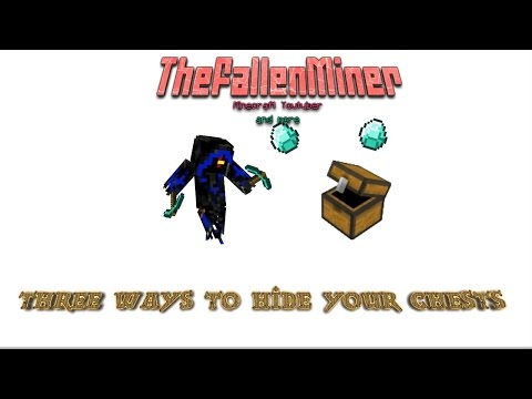 Minecraft: 3 ways to hide your chests!!