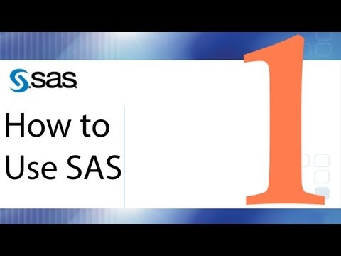 How to Use SAS - Lesson 1 - The SAS Interface