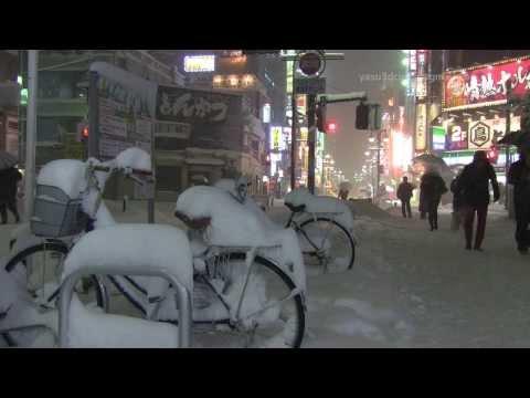【東京豪雪】2014年2月14日 八王子積雪60cm 八王子と府中の様子