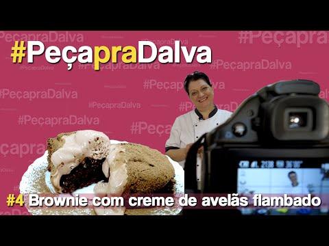 #PeçapraDalva #4 - Cecilia Balthazar - Brownie com creme de avelãs flambado
