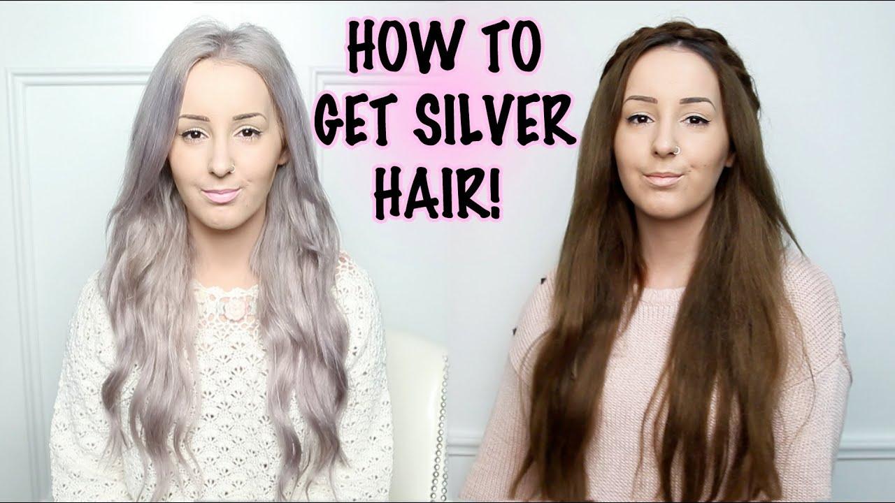 How To Silver Hair Tutorial By Tashaleelyn Youtube