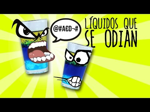 Los líquidos que se odian (Experimentos Caseros para niños)