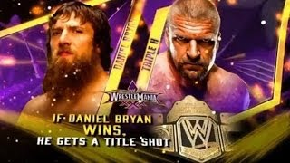 WWE Wrestlemania 30 - Triple H vs Daniel Bryan Match