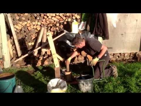 How to make fuel from sawdust and old oil.
