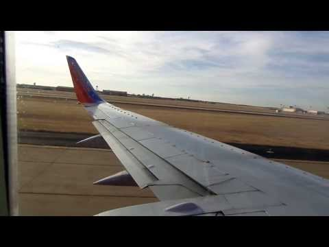 Southwest Airlines 737-300 Pushback, Engine Start, and Takeoff from OKC