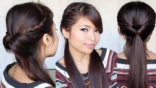 Tucked In Lace Braid Half-up Half-down Hairstyle Hair