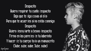 Despacito - Luis Fonsi, Daddy Yankee ft. Justin Bieber (Lyrics)