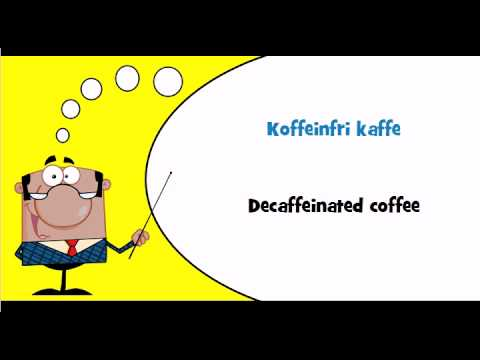 Danish vocabulary #Theme = Kaffe