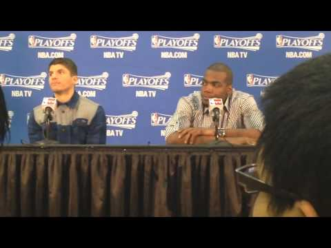 Atlanta Hawks Kyle Korver & Paul Millsap Postgame Interview (4-26-14)