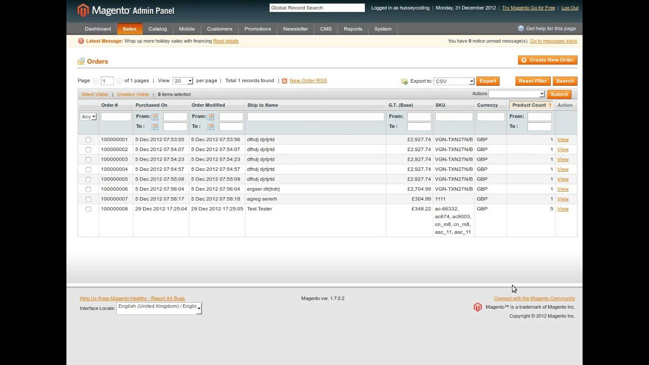 magento oder how to add shipping admin