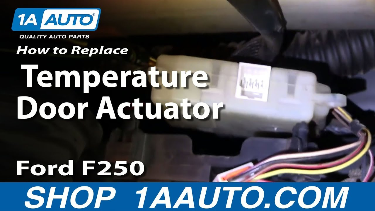 how to install replace heater ac temperature door 99