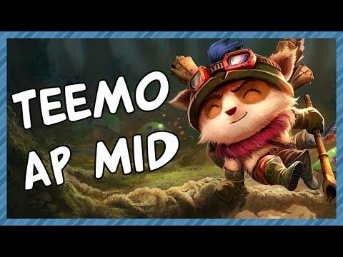 TEEMO AP MID | ARSENAL BUILD Season 4 S4 - League of Legends