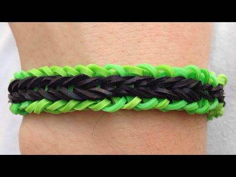 Como fazer pulseiras de elástico: Triple Falsa #LoomBands (sem tear)
