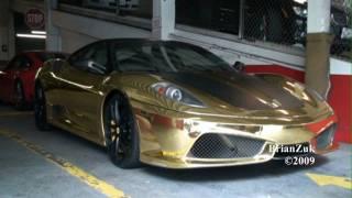 Gold Ferrari 430 Scuderia ..