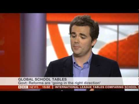 Alex Dyer discusses the PISA tests live on the BBC News