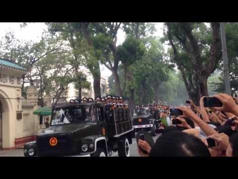 Lễ Quốc Tang Đại Tướng Võ Nguyên Giáp trên con đường Hoàng Diệu
