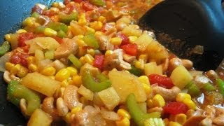 American Corn & Cashew Nut Curry..