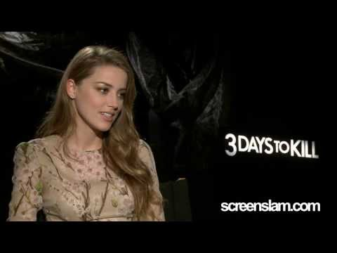 3 Days To Kill: Amber Heard Exclusive Interview