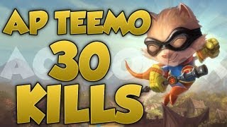 [League Of Legends] AP Teemo 30 Kills Full Game Commentary