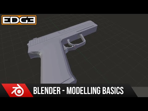 Blender for Beginners: 3D Modeling a Basic Handgun tutorial series part 4 by Zoonyboyz