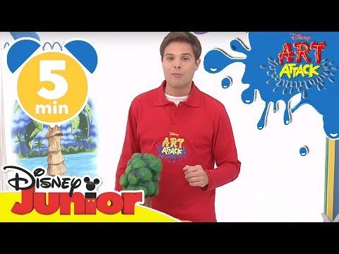 Art Attack Bastelclip #9 - Umweltabenteuerspiel | Disney Junior