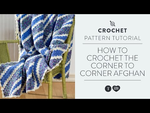 Crochet Afghan Patterns Youtube : How to Crochet the Corner to Corner Afghan - YouTube