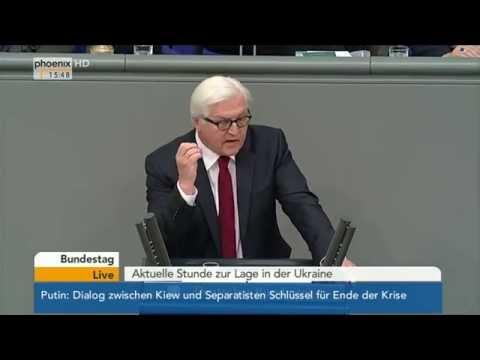 Bundestag - Frank-Walter Steinmeier zur Lage in der Ukraine am 07.05.2014
