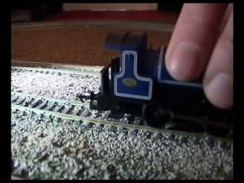 how to clean model train track