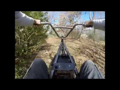 home made trike part 5 test ride