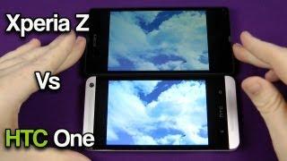 HTC One vs Xperia Z Screen Comparison