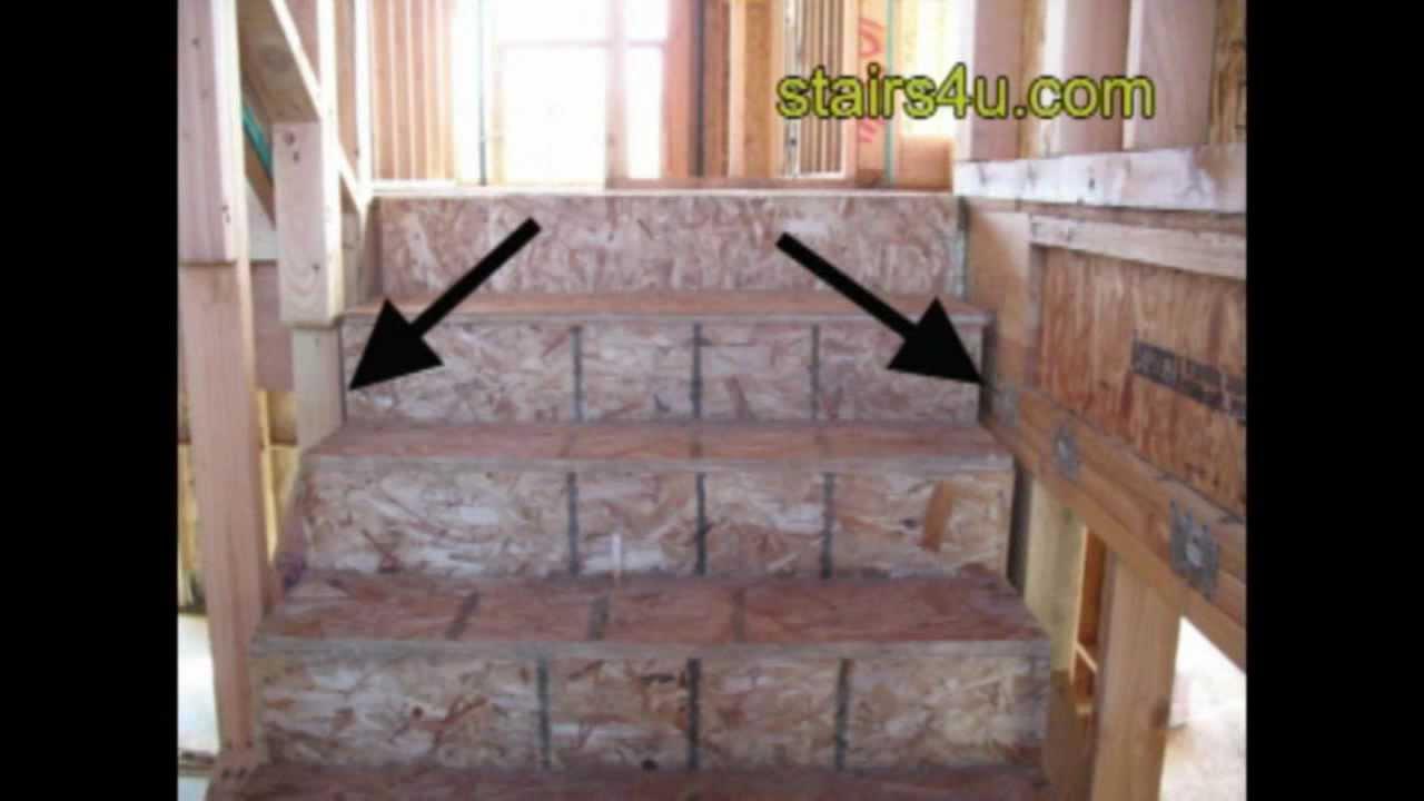 Easy Stair Framing Tip Drywall Spacing Between Stringer