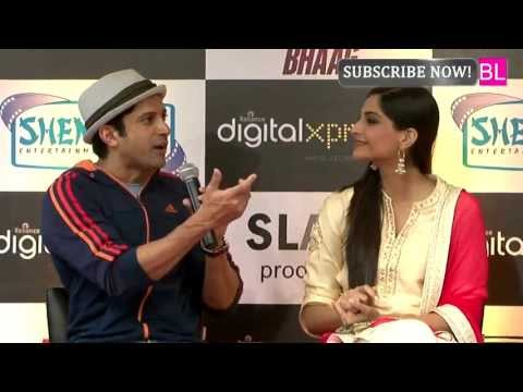 Farhan Akhtar and Sonam Kapoor Launched Bhaag Milkha Bhaag on Home Video
