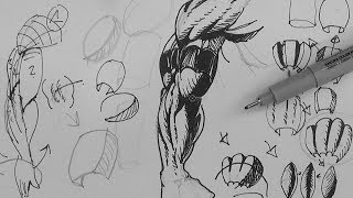 Pen And Ink Drawing Tutorials How To Draw Muscular