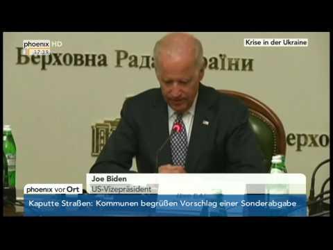 Ukraine-Krise - Joe Biden nach Treffen mit Turtschinow am 22.04.2014