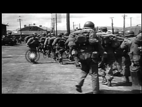 'The Big Picture' focusing on the United States Army 24th Division's first 50 day...HD Stock Footage