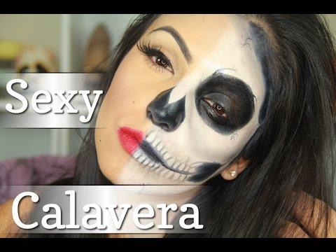 Maquillaje para halloween calavera sexy /Colaboracion con Rosy Mcmichael