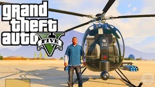 GTA 5: Spawn Buzzard Helicopter CHEAT! Xbox 360 + PS3