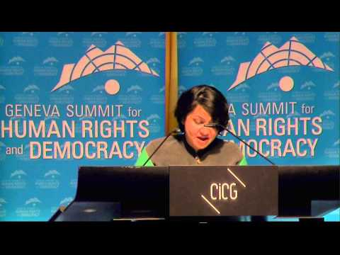 2014 Geneva Summit: Rakhshinda Perveen, Pakistani Women Rights Activist