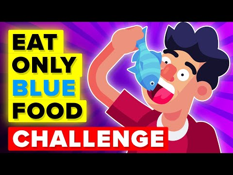 I Ate Only Blue Foods For 72 Hours And This Happened ... (FUNNY CHALLENGE)