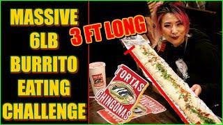 6lb Burrito Eating Challenge @ Tortas Chingonas #RainaisCrazy
