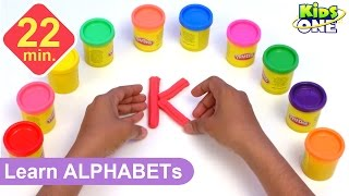 Play and Learn ALPHABETS with Play Doh for Children | Play-doh ABC for Kids