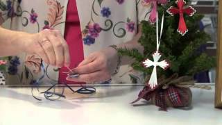 Project: Ribbon Cross Ornament
