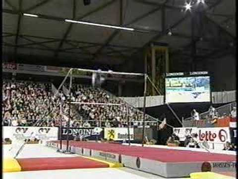 Katie Heenan - 2001 Worlds Team Finals - Uneven Bars